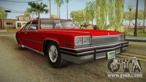 GTA 5 Albany Manana 4-doors for GTA San Andreas right view