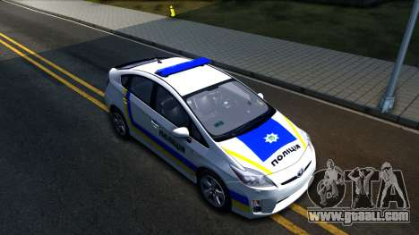 Toyota Prius Ukraine Police for GTA San Andreas right view