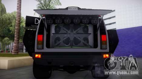 Hummer H2 Loud Sound Quality for GTA San Andreas back left view