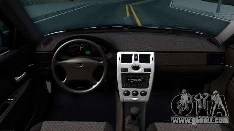 VAZ 2170 for GTA San Andreas inner view