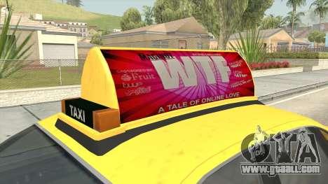 GTA 4 Taxi Car for GTA San Andreas back view