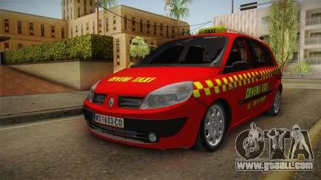 Renault Scenic Mk2 Crveni Taxi for GTA San Andreas