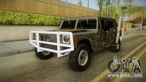 New Patriot Hummer for GTA San Andreas right view