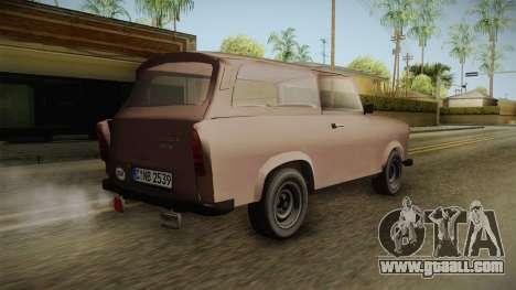 Trabant 601 Kombi for GTA San Andreas left view