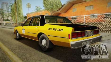 Chevrolet Caprice Taxi 1986 for GTA San Andreas left view