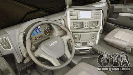 Iveco Stralis Hi-Way 560 E6 6x2 Timber v3.0 for GTA San Andreas inner view