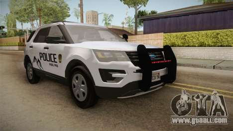 Ford Explorer 2012 Angel Pine PD for GTA San Andreas right view