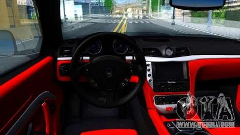 Maserati GranTurismo 2008 for GTA San Andreas inner view