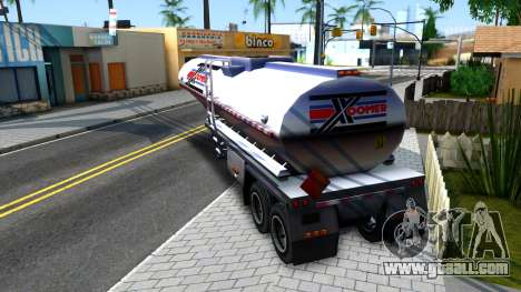 Realistic Tanker Trailer for GTA San Andreas left view