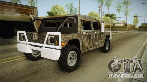 New Patriot Hummer for GTA San Andreas left view