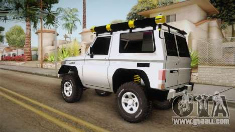 Toyota Land Cruiser Machito for GTA San Andreas back left view