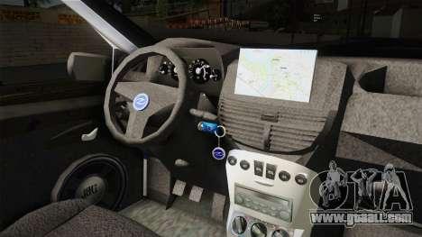 Fiat Punto Gai for GTA San Andreas inner view