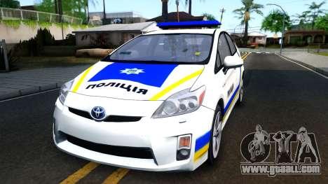Toyota Prius Ukraine Police for GTA San Andreas