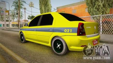 Renault Logan Taxi of Rio de Janeiro for GTA San Andreas left view