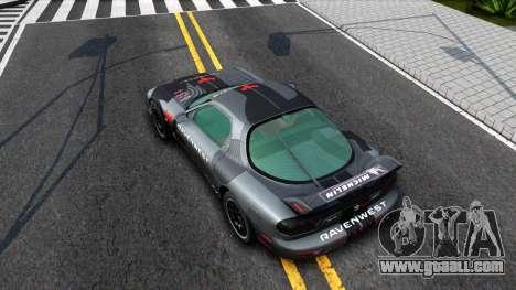 Mazda RX-7 for GTA San Andreas back view