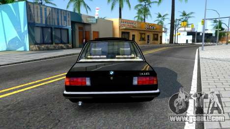 BMW 316 E21 for GTA San Andreas back left view