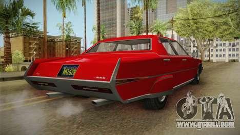 GTA 5 Albany Manana 4-doors for GTA San Andreas back left view
