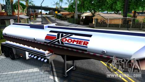 Realistic Tanker Trailer for GTA San Andreas back left view