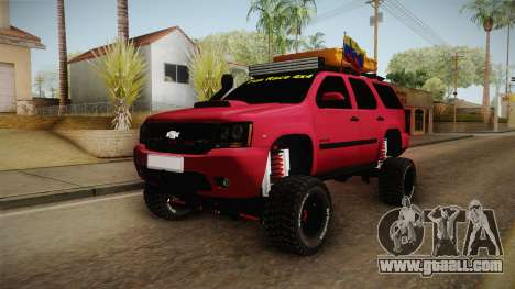 Chevrolet Tahoe Semi Offroad VZLA Edition for GTA San Andreas back left view