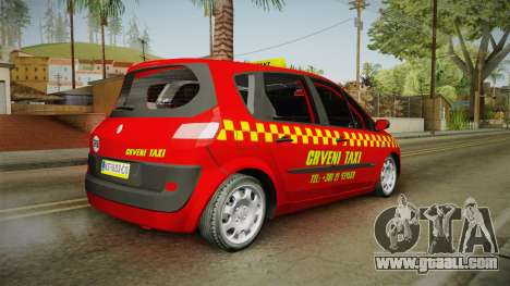 Renault Scenic Mk2 Crveni Taxi for GTA San Andreas left view