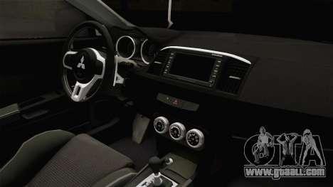 Mitsubishi Lancer EvoStreet PRO for GTA San Andreas inner view