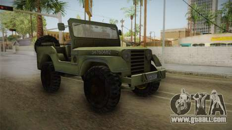 Jeep from The Bureau XCOM Declassified v2 for GTA San Andreas right view