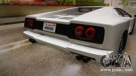 GTA 5 Pegassi Infernus Classic for GTA San Andreas bottom view