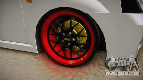 Dacia Logan Tuning v2 for GTA San Andreas back view