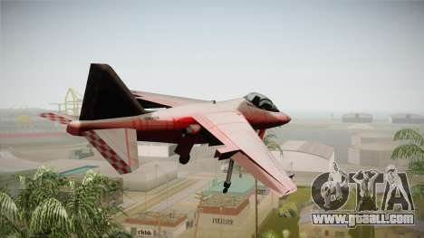 Red Hydra for GTA San Andreas right view