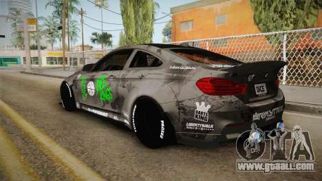 BMW M4 LB Walk Team-DiCE for GTA San Andreas left view