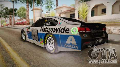Chevrolet SS Nascar 88 Nationwide 2017 for GTA San Andreas left view