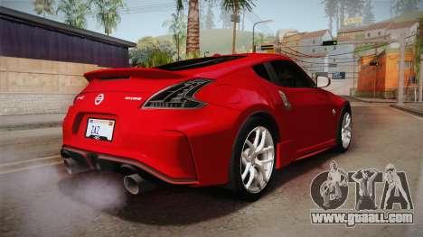 Nissan 370Z Nismo 2016 SA Plate for GTA San Andreas right view