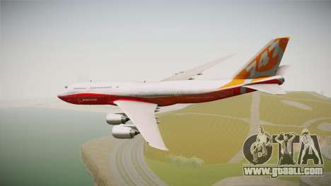 Boeing 747-8I Sunrise Livery for GTA San Andreas left view