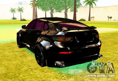 LANDSTALKER BMW X6 HAMMAN SPORTS for GTA San Andreas back left view