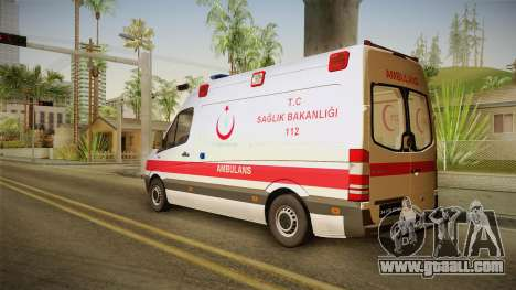 Mercedes-Benz Sprinter Turkish Ambulance for GTA San Andreas left view