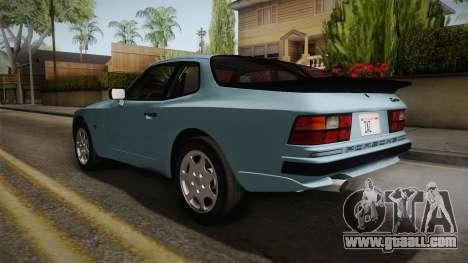 Porche Turbo for GTA San Andreas back left view