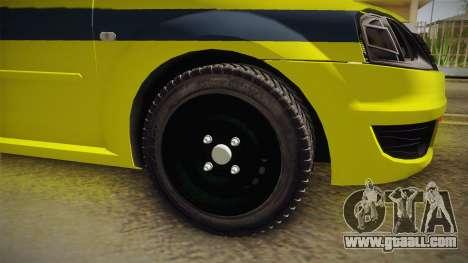 Renault Logan Taxi of Rio de Janeiro for GTA San Andreas right view