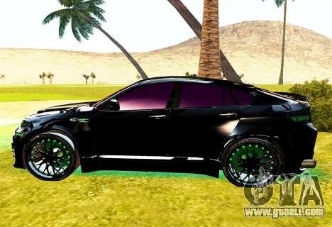 LANDSTALKER BMW X6 HAMMAN SPORTS for GTA San Andreas left view