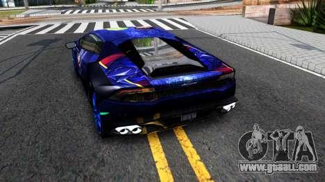 Lamborghini Huracan 2013 for GTA San Andreas back left view