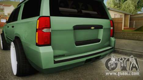 Chevrolet Tahoe GT Stance Bass Booster for GTA San Andreas bottom view