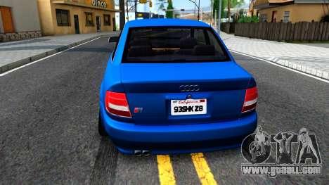 Audi S4 Dark Shark for GTA San Andreas back left view