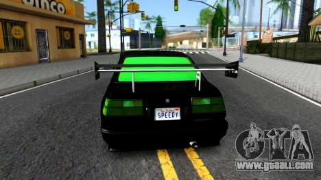 GTA 5 Karin Futo - Monster Energy for GTA San Andreas back left view