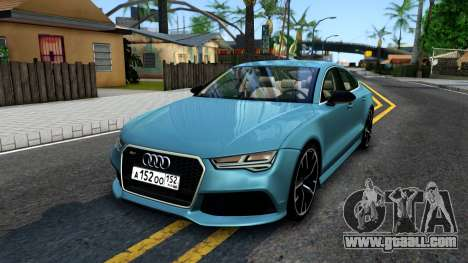Audi RS7 Sportback for GTA San Andreas