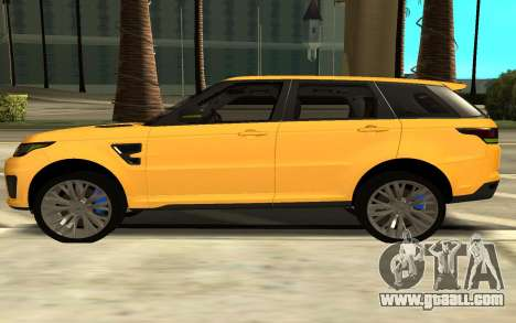 Land Rover Range Rover Sport Supercharged for GTA San Andreas left view