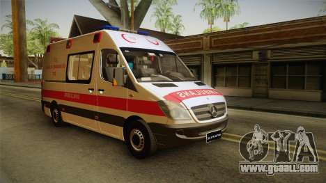 Mercedes-Benz Sprinter Turkish Ambulance for GTA San Andreas right view