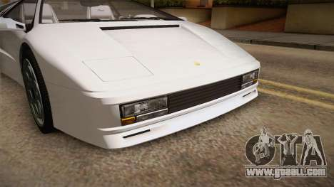 GTA 5 Pegassi Infernus Classic for GTA San Andreas side view