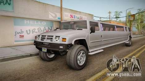 GTA 5 Mammoth Patriot Limo IVF for GTA San Andreas