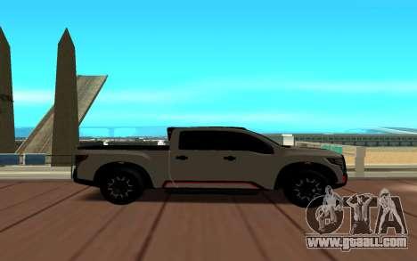 Nissan Titan for GTA San Andreas left view