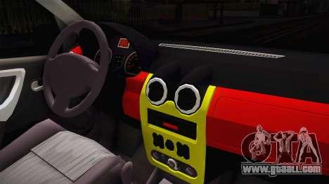 Dacia Logan Tuning v2 for GTA San Andreas inner view