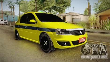 Renault Logan Taxi of Rio de Janeiro for GTA San Andreas